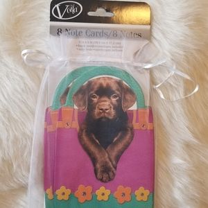 Voila Puppy Blank Note Cards & Envelopes New